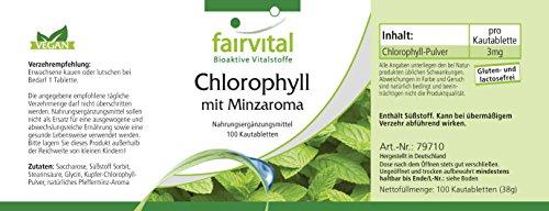 Chlorophyll Kautabletten mit Minzaroma - Großpackung für 100 Tage - VEGAN - 100 Kautabletten - 4