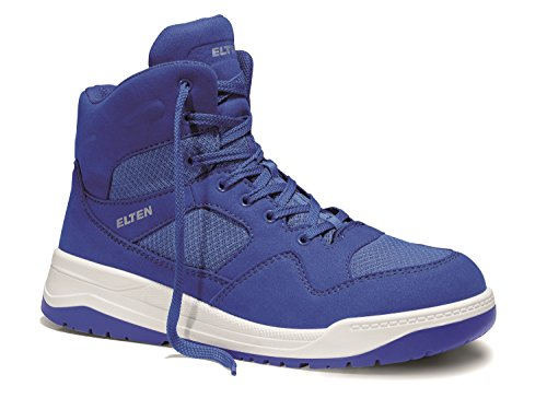 Elten Chaussures de sécurité Maverick Blue Mid ESD S1P (à partir de mi Mars Contenu Bar) Bleu - Bleu