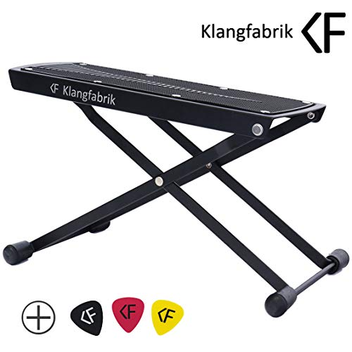 Fussbank für Gitarre von Klangfabrik   6-fach höhenverstellbar, sehr robust   Fußbank, Fuss-Stütze, Fuss-Schemel