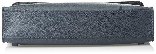 Piquadro Scott, Borsa Messenger Unisex-Adulto, 7.5 x 25 x 35.5 cm (W x H x L) Blu