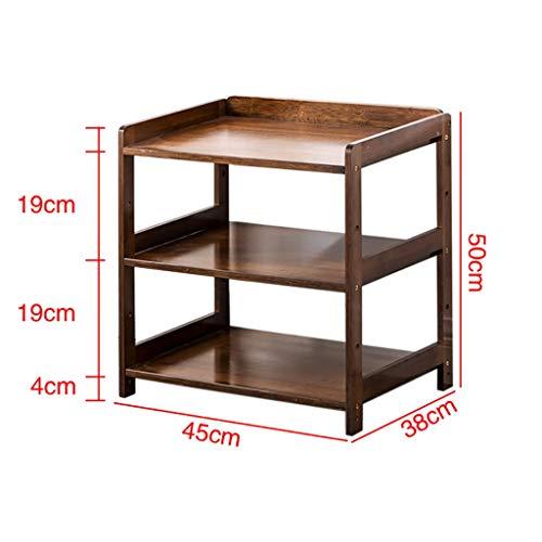 Dauerhaft Bambus End Table, 2-Tier Lagerung Regal, mottensicher & Mildew Proof Beistelltisch, leicht zu montieren, for Wohnzimmer, Schlafzimmer, Balkon, Holzfarbe ( Color : B , Size : 50*38*45CM )