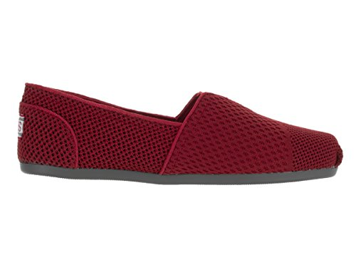 Bobs by Skechers Summer Spark Femmes Toile Chaussure Plate red