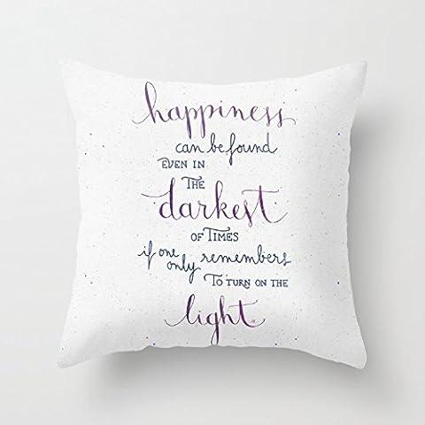Decorativa Funda de almohada de felicidad se puede encontrar Funda de cojín (18x 18
