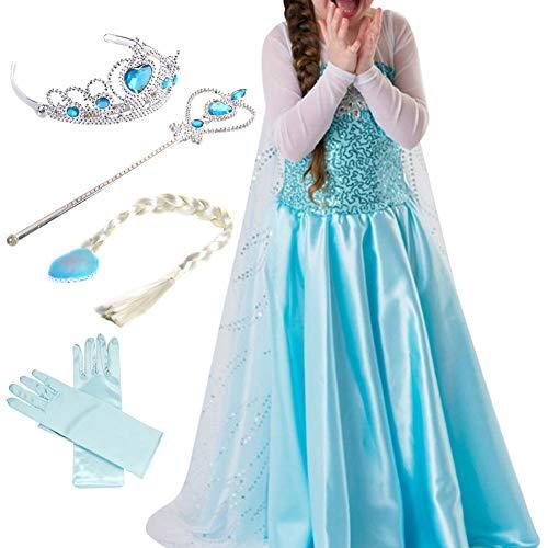Timesun® Mädchen Prinzessin Schneeflocke Süßer Ausschnitt Kleid Kostüme -