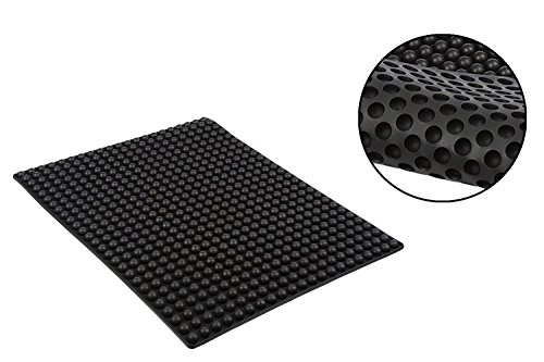 Pukkaware Antihaft-Backmatte; Silikon für gesundes Kochen, Grillen, Ofen & Mikrowelle; für Kekse, Macarons, Gebäck, Speck & mehr; hitzebeständig bis 260°C; leicht zu reinigen & zu lagern; der EU entsprechendes, hochwertiges BPA-frei Lebensmittel-Silikon (LFGB konform), schwarz, 39.7 x 31 x 0.8 (cm) / 15.6 x 12.2 x 0.3″ …