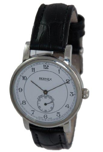 Bernex BN12408 - Reloj de pulsera hombre, piel, color blanco