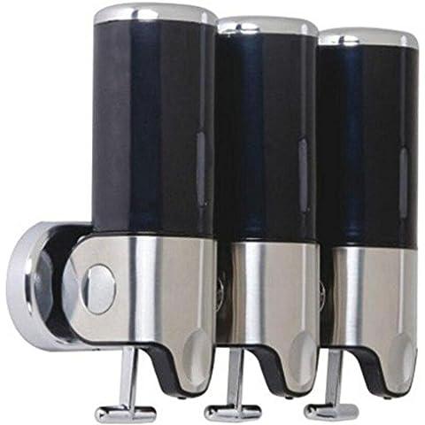 OOFAY YSPJ ® Presión acero inoxidable tres líquido dispensador de jabón de jabón líquida y loción , black