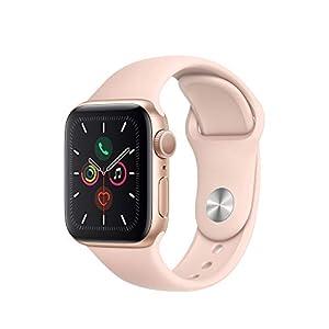 Apple Watch Series 5 (GPS, 40 mm) Aluminiumgehäuse Gold – Sportarmband Sandrosa