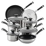 Circulon 70514 13-Piece Stainless Steel Cookware Set, Nonstick