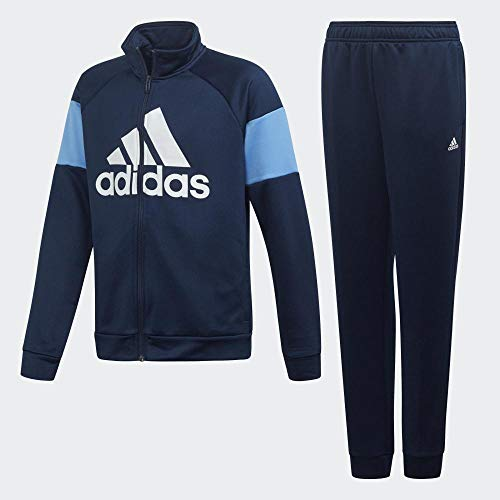 adidas YB TS Bos, Suits Bambino, Collegiate Navy/Real Blue/White, 13-14A
