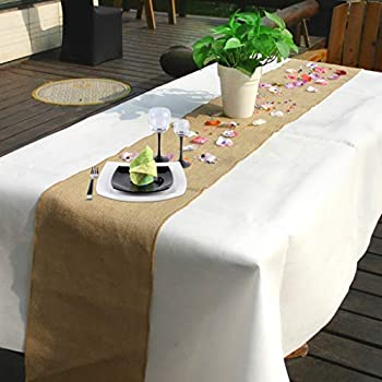 Time To Sparkle Tts Jute Hessian Table Runners 30x275cm Rustic