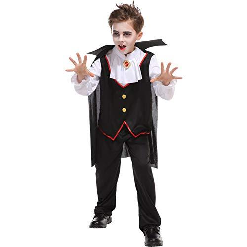Ghost Jungen Kostüm - ERFD&GRF Weihnachten Karneval Halloween Maskerade Vampire Kostüm Für Kinder Jungen Edle Ghost Prince Kostüm Kinder Cosplay Kleidung, L