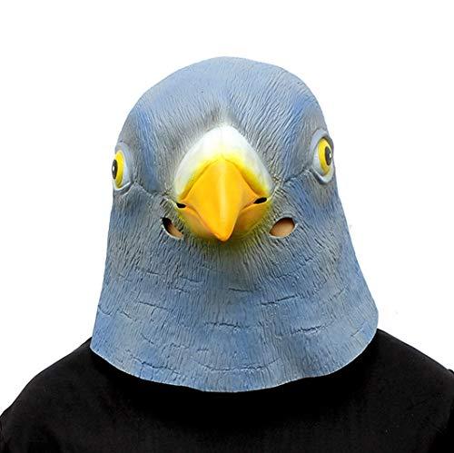 Realistische Animal Wig Tauben Maske Halloween Dekoration Kostüm Maske Cosplay Volle Kopfmaske ()