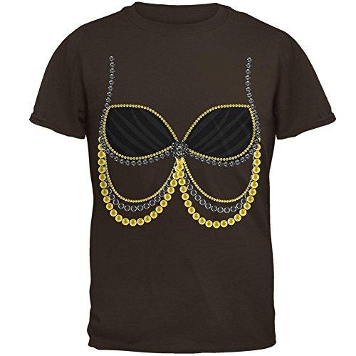 Halloween Schwarze arabische Bauchtänzerin Kostüm Herren-T-Shirt braun (Halloween Belly Kostüme Dancer Arabischen)