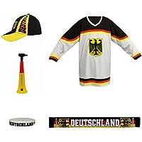 Deportes Deportes de Equipo Fan Juego de 004Taberna Paquete de Hockey Sobre Hielo, Color Negro/Amarillo, 36x 24,5x 11cm