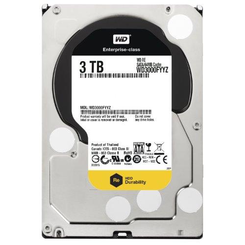 Preisvergleich Produktbild Western Digita WD3000FYYZ RE 3TB interne Festplatte (8,9 cm (3.5 Zoll), 7200rpm, 64MB Cache, SATA III)