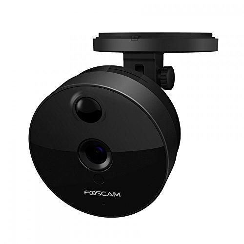 Foscam C1 IP Kamera, 720p HD Überwachungskamera Foscam C1 IP Kamera, 720p HD Überwachungskamera für den Innenbereich WLAN-Standard 802.11n zwei Wege Audio Nachtsichtfunktion (C1, schwarz)