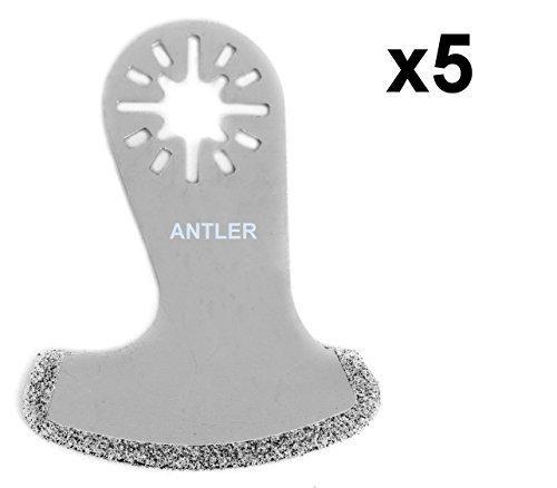 AB58DB Antler Diamant-Blätter Sägeblätter Klingen Multitool Oszillierwerkzeug-Zubehör (Packung mit 5)