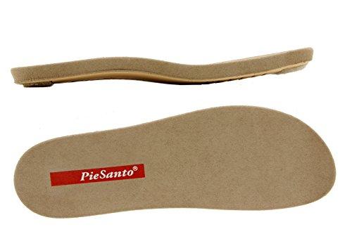 Chaussure femme confort en cuir Piesanto 6807 sandale semelle amovible chaussure confortables amples Vison