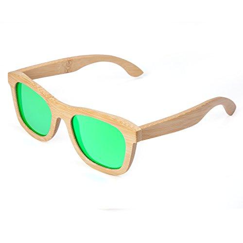 1106a0e1ef 2016 Nuevos Gafas De Sol Para Hombres Y Mujeres Hechas A mano De Bambú Gafas  De