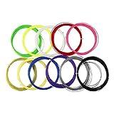 LIOOBO 10 pz Badminton linee stringa nylon elastico durevole racchetta da badminton corde racchetta corde di ricambio (colore casuale)