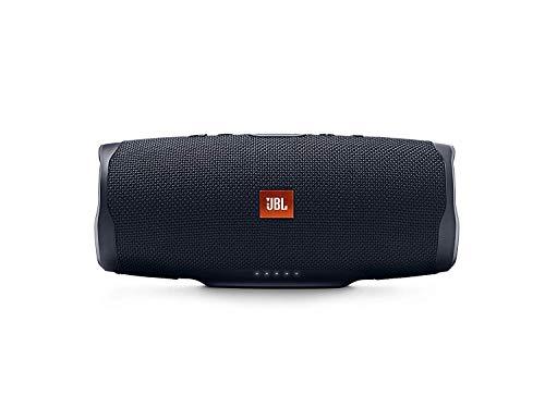 JBL Charge 4 Bluetooth-Lautsprecher in Schwarz - Wasserfeste, portable Boombox mit integrierter Powerbank - Mit nur einer Akku-Ladung bis zu 20 Stunden kabellos Musik streamen