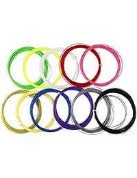 10 unids líneas de bádminton Cadena de Nylon elástico Durable Raqueta de bádminton Cadena Raqueta líneas de reemplazo (Color al Azar)