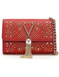 0ef20a67e Valentino By Mario Valentino Marilyn Red Stud Embellished Cross-Body Bag