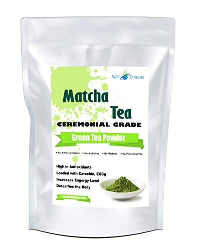 NutriExtracts Matcha Green Tea Powder Large 200g Ceremonial Grade Smoothies Antioxidant Weight Loss Cleansing Vegan and Vegetarian