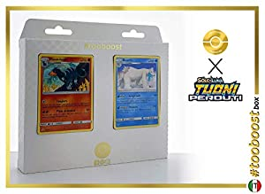 Houndoom 46/214 Y Beartic 62/214 - #tooboost X Sol E & Luna 8 Tuoni Perduti Box de 10 Cartas Pokémon Italiano + 1 Goodie Pokémon