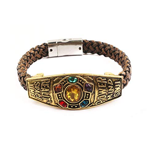 Hzzzzz Thanos Bracelet Marvel Avengers Infinity War Gauntlet Power Bangle Men Women Fashion Jewellery