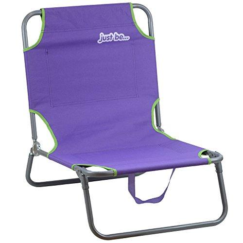 Just be......® spiaggia & giardino sedia reclinabile per il sole - viola