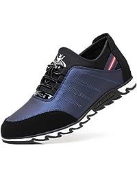 Calzado Deportivo para Hombres al Aire Libre Zapatos de Aumento Interno de 4 CM Zapatos de
