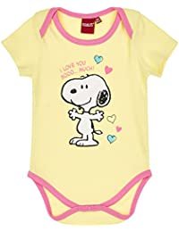 Snoopy Babies Girls Baby body - yellow