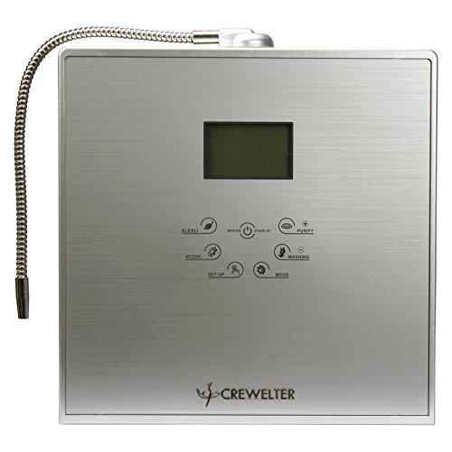 Ionizer-system Wasser (crewelter 9Teller Platinum Titanium Alkaline Wasser Ionisator Maschine Superior MULTILAYER Filtration UV-Lampe)