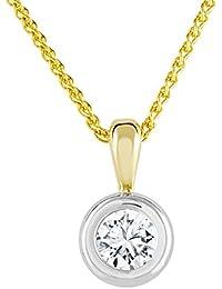 Diamond Line Damen - Halskette 585er Gold 1 Diamant