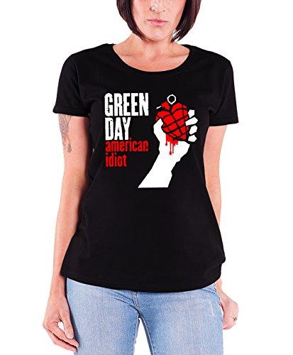 Verde Day T Shirt American Idiot Band Logo Oficial De las mujeres nuevo Super