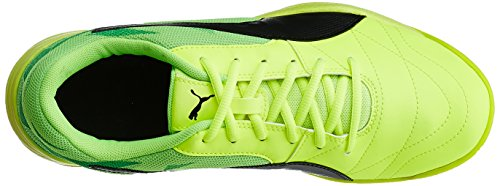 Puma Veloz Indoor Iii, Scarpe da Calcio Unisex – Adulto Giallo (Safety Yellow-puma Black-green Gecko 05)