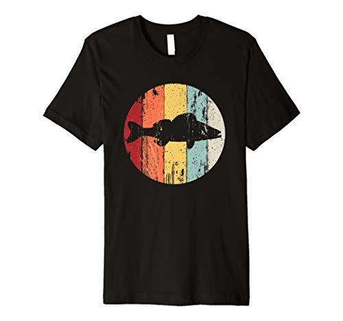 Retro-shirts Für Männer (Angler Geschenk im retro vintage Stil mit Zander Tshirt)