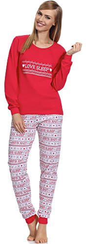 Merry Style Damen Schlafanzug 1022 Himbeere-2A