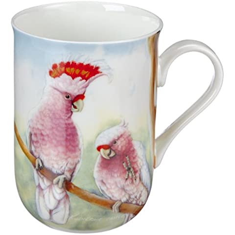 Maxwell & Williams PBD020 Birds of Australia - Taza en caja regalo, diseño de cacatúas