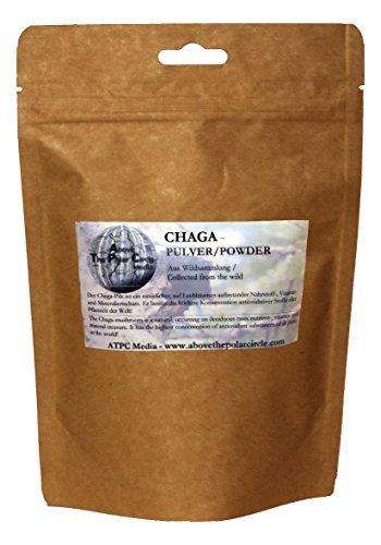 Chaga Pulver aus finnischer/sibirischer Wildsammlung 100 Gramm