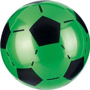 Ballon Foot 23 Cm Plastique (Livré À Plat), Coloris Assortis