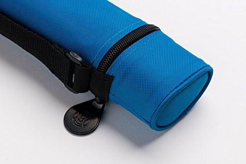 Cuel Billard-Köcher Sport blau 1/1 für Pool-Billard-Queues, mit Schultergurt und Seitentasche für Billardzubehör
