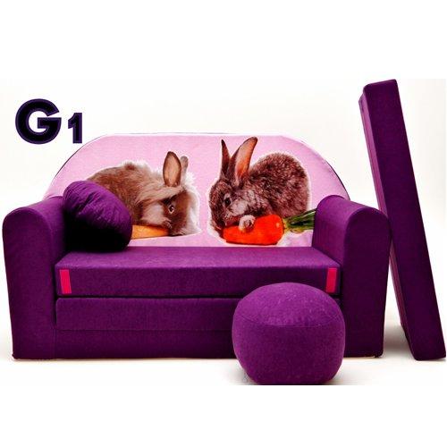 G1 divano bambini richiudibile mini divano letto divano 3-in-1 set con + poltrona per bambini e cuscino per sedia + materasso