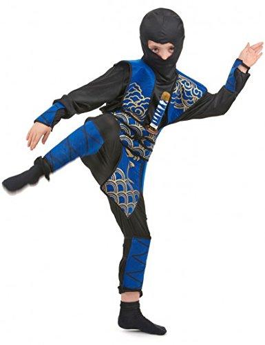 Ninja-Kostüm blau für Jungen - 4 bis 6 Jahre