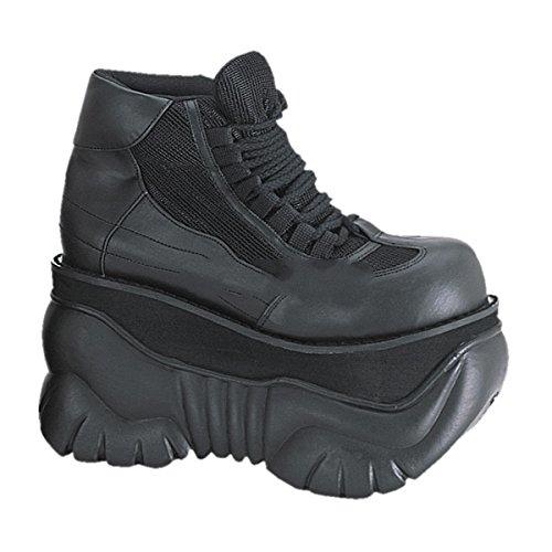 Demonia Boxer-01 - Gothic Punk Industrial Plateau Schuhe 37-45, Größe:EU-41/42 (US-M9)
