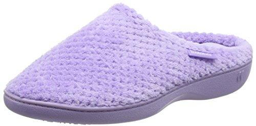 isotonerisotoner-ladies-popcorn-mule-slippers-pantofole-donna-viola-purple-lavender-365