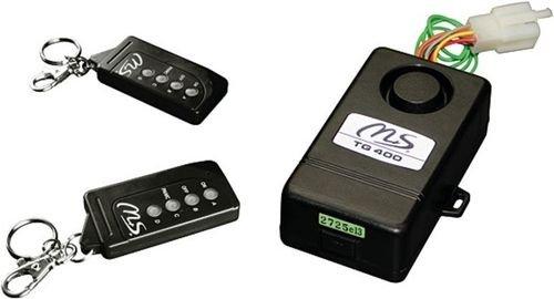 Motorrad Roller Quad Alarmanlage Alarm System Anti-Diebstahl Sirene 12V TG400 M+S mit 2 Fernbedienungen Sicherheit Universal