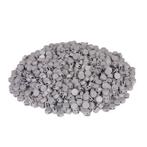Preisvergleich Produktbild 1000 St. Kunststoffplomben grau 8mm - Plomben